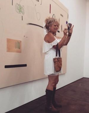 Admiring the artist #christianrosa at his show in downtown LA! #admire #art #show #la #love #paint #fun...