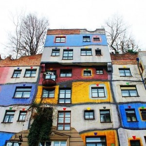Hundertwasser definitely knew how to bring color to your life. Always a good view, that makes you...