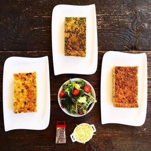 The three must-try-heres⚔ Quiche with salmon | with spinach & goat cheese | Lorraine with bacon and...