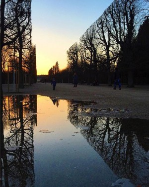 Crystal clear. #sky #sunset #vienna #vscocam #wien #mirror #sundown #winter #vscogood #vsco #nature #outside #igersaustria #igersvienna #park...