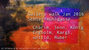[NEW VID ONLINE] Gallery walk in Jan 2016: Schleifmuehlgasse #Vienna #art