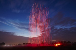 World record! @Intel and @ArsElectronica Futurelab illuminated the sky with 100 #drones