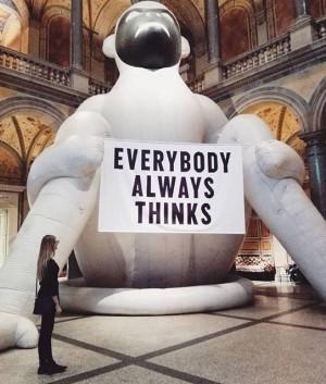 Everybody always thinks #thehappyshow#vienna#stefansagmeister MAK - Austrian Museum of Applied Arts / Contemporary Art