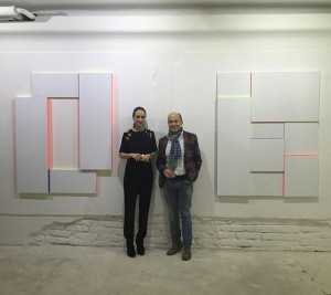#patricsandri opening @lisabirdcontemporary #vienna #paintings #light #sculpture