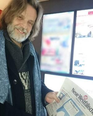 In den 1970er Jahren war er Lokalredakteur bei uns, #helgetimmerberg. Heute kam er vorbei, um über sein...