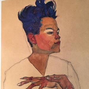 Egon Schiele Self-Portrait, hands on chest, (detail),1910. @neuegalerieny @curator_ngny #egonschiele #schiele #vienna1900 Neue Galerie New York