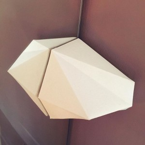 Wall-lamp design and made by me. I wish, i could try more another shapes.. Although it was...