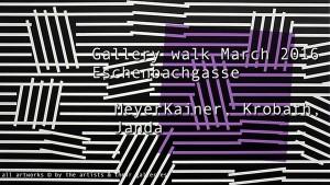 [NEUER CLIP] Glerienrundgang Eschenbachg. 03 2016: MeyerKainer, Krobath, Marin Janda #Kunst