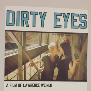 #dirtyeyes #lawrenceweiner #always Galerie Hubert Winter