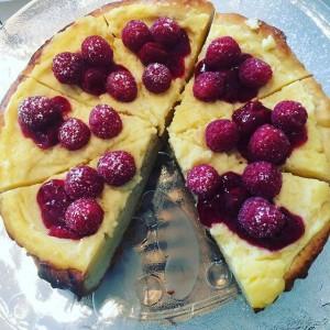 Custard brioche cake#raspberry#custard#brioche#cake#12munchies