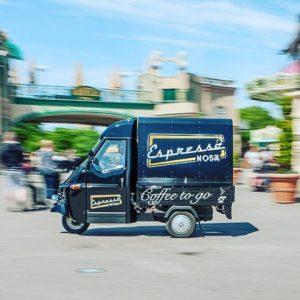 Auf in den #prater #wien #espressomobil #coffeetogo #oldtimer #bestcoffee #coffeetime #wochenende #vienna Espressomobil