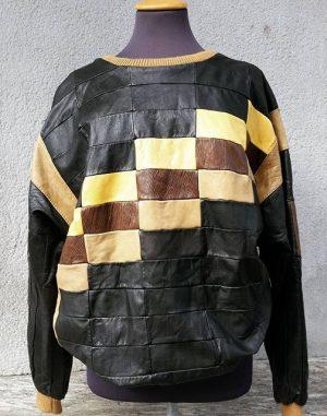 #amazing #black #patchwork #leather #sweater #truevintage ♥ #polyklamott #vienna #secondhandshop