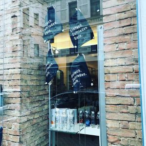 Our new gym bags made from 100% organic cotton are looking out of our shop-window. It looks...