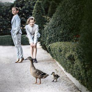 The Voyage Collection. Photo: Emily Kornya Models: Olivia + Lukas Location: Palais Coburg private gardens. #EmilyKornya #retro...