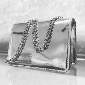 Beautiful small #Rochas bag in silver #wunderl #bags #springsummer16 WUNDERL