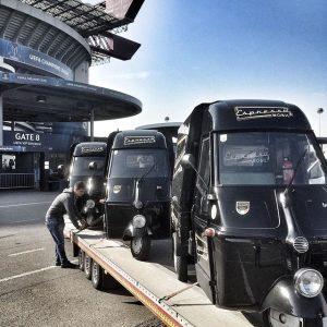 Forza Espressomobil🇮🇹🇮🇹☕️☕️☕️#italy #ape #milano #espressomobil #espresso #cappuccino #coffeetogo Stadio San Siro