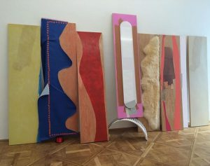 I love this Jessica Stockholder - opening now at naechst St Stephan Galerie nächst St. Stephan Rosemarie...