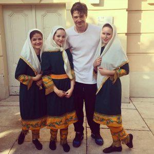 Прекрасный Максим Матвеев и мы;) #евровыгул #feelrussia2016 MQ – MuseumsQuartier Wien