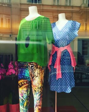 Color me beautiful on a sunny day #color #fashion #pregenzerfashionstore #vienna #myvienna #shopping #silk #green #blue #pink...