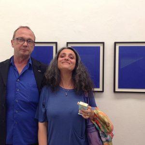 #heimozobernig in Front of #doritmargreiter all blue