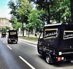 Unsere Armada schwärmt aus.... #vienna #goodday #espresso #espressomobil #wochenende #relax Burgring