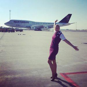 Yeah, die Iron Maiden Boeing747 in Wien!!!!! 😍😃✨ MEGA!!!! 😀 #flightattendant #flightattendantlife #stewardess #cabincrew #cabincrewlife #wien #vienna...