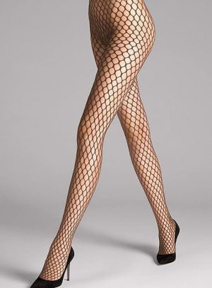 #MadelineTights - Give your outfit an elegant extravagance with delicate mesh patterns. #wolfordfashion #wolfordtights #luxury #tights #hosiery