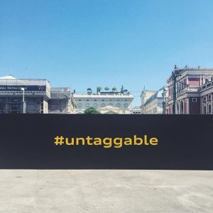 One of our 4 installations for the @audi #untaggable event happening today all over Vienna. Concept and...