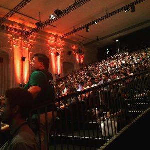 That's crowded! #wceu MQ – MuseumsQuartier Wien