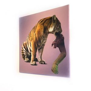 Alex Kiessling - Tiger eats .... @ EAT or BE EATEN exhibition of several artists at Thaliastrasse...