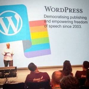 WP co-founder Mike Little @ #WCEU #wordpress #austrianblogger #vienna #wien #museumsquartier #yoast
