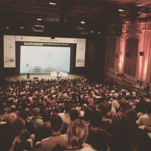 Q&A with Matt Mullenweg, the founder of WordPress #wceu2016 #wceu16 #vienna #wordpress #q&a #wceu MQ – MuseumsQuartier...