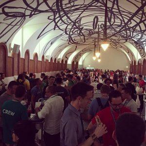 Lunchtime for 1800 WordPress Networkers at WordCamp Europe 2016 #lunch #wceu #wordpress #wordpressphoto #vienna #cityvienna #igersvienna #igersaustria...