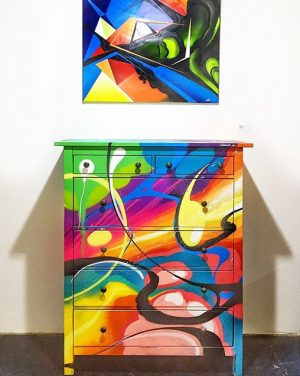 Mega Style Sale - painting: Case / sideboard: Karus || exhibition opening at