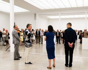 Secession's president #herwigkempinger and Federal Minister #thomasdrozda are opening the new exhibitions by ...