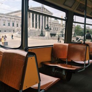 Please, have a seat in one of Vienna's oldschool tramways and enjoy a trip around the Ringstrasse...