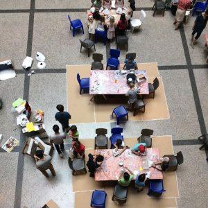 MINI MAK Sommerferienspiel Im Rahmen der Ausstellung FRIEDRICH KIESLER. Lebenswelten WORKSHOPS Weg mit dem Eck (für 6–10-Jährige)...