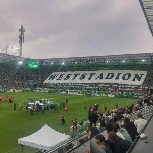 Radio Arabella bei der Rapid Stadion Eröffnung. Egal ob Fan oder nicht - schön ist es geworden......