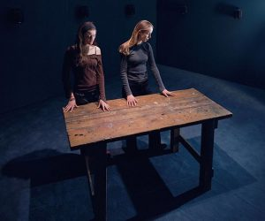 """To Touch"" by Janet Cardiff invites the visitor to interact literally in terms of the title. You..."