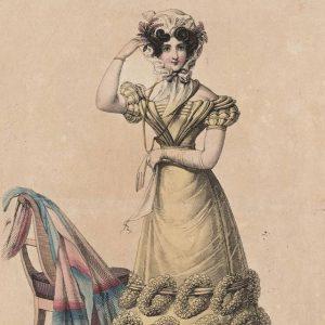 Haute Couture à la 1825: Dieser Stahlstich von Philipp von Stubenrauch ist schon fast 200 Jahre alte...