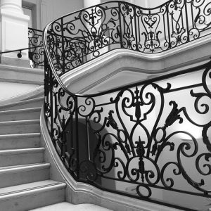 The tempo and beauty of the Neue Galerie's main staircase is not to be beat. #staircase #landmarked...