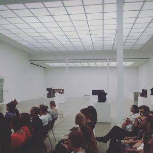 Listening to Katharina Mosers LOVE to Europe @viennasecession #creativemornings #viecm @vienna_cm Vienna Secession