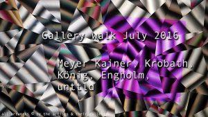 [NEUER CLIP] Gallery walk 7 2016 meyerkainer krobath kerstin engholm christine koenig unttld