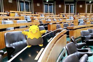Haha 😂 Hab ein #Pokémon im Parlament gesichtet!!
