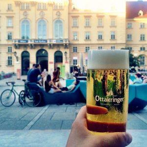 Wien, Wien, nur du allein ❤ Danke an @michaelcze für das coole Bild! #wien #mq #ottakringer #bier...