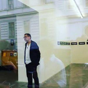 Presseführung mit Diedrich Diederichsen beim Galerienfestival #curatedby #wirtschaftsagenturwien