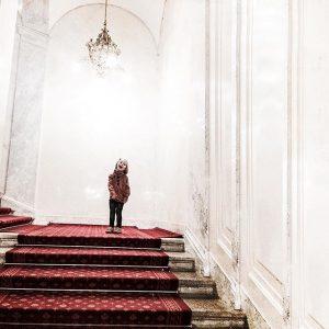 Inspirational Roar at Vienna's Sisi Museum. #thesmallgatsby #sisi #museum #vienna #fall #autumn #luxurykids #luxuryfashion #couture #madeinvienna