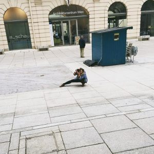 The perspective from the other side 📷 #photoshooting MQ – MuseumsQuartier Wien