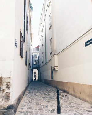 Flitting through alleyways. Schönlaterngasse