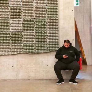 The BetonBoy with BetonEggBoxes #kusthalle #mumok #Beton #Museum #Vienna #igersvienna #igersaustria #art #exibition #funnythings